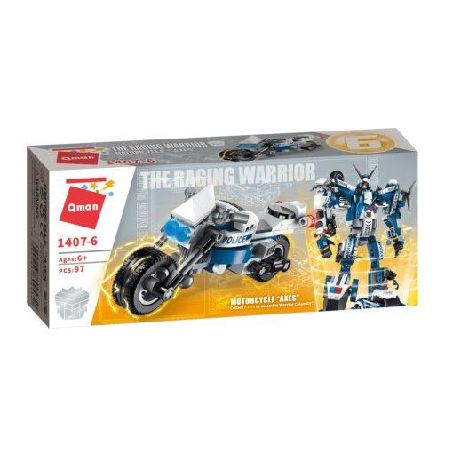 Rendőr motor építőjáték- Qman