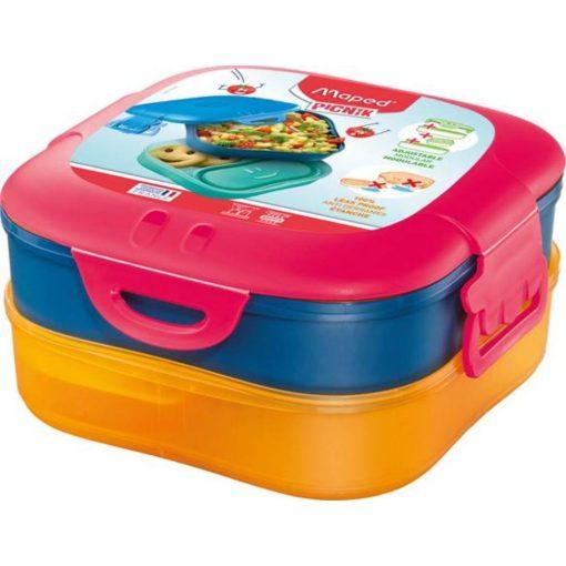 uzsonnas-doboz-3-az-1-ben-maped-picnik-concept-kids-pink