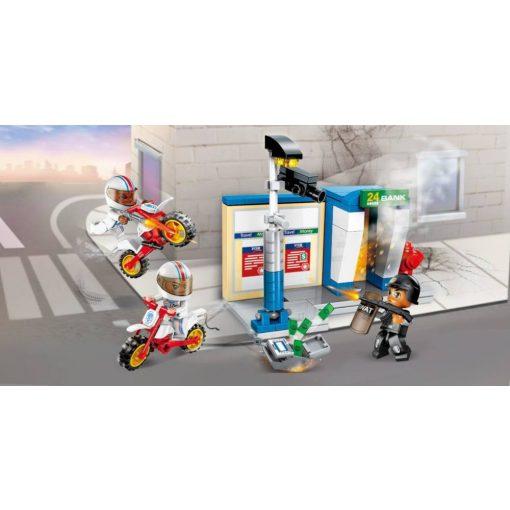 Bankautomata kirablása építőjáték - Qman