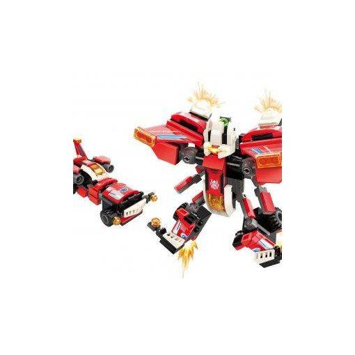 Vörösszárnyú versenyautó építőjáték - Qman-3102-1