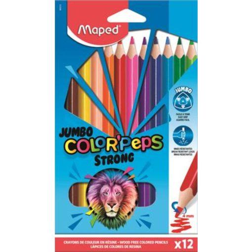 szines-ceruza-keszlet-haromszogletu-maped-jumbo-colorpeps-strong-12-kulonbozo-szin